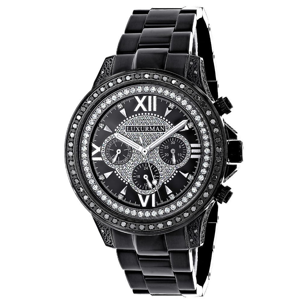 Luxurman Men's Liberty Diamond Watch