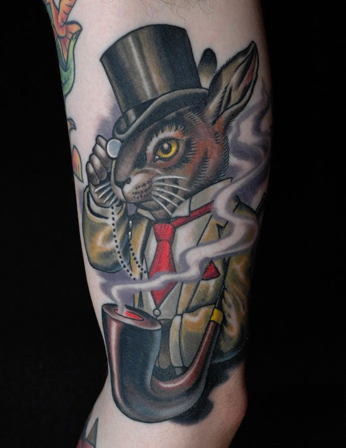And Hat Rabbit Tattoos Magician