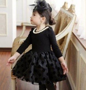 Dot-casual-new-2015-winter-full-white-black-party-knee-length ...