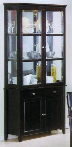 Coaster Springs Contemporary Slim China Cabinet In Cappuccino Finish List Price 144716 Buy New Dining BuffetBuffet HutchDining Room