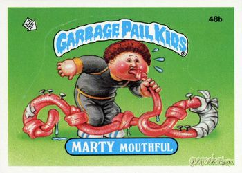 Marty Mouthful Series 2 1985 84 Stickers 42a 83a 42b 83b Garbage Pail Kids Garbage Pail Kids Cards Pail
