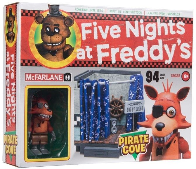 McFarlane Five Nights Freddys Classic Construction Pirates Cove FOXY Mini Figure
