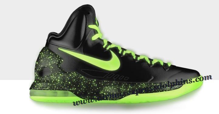 Nike Zoom KD V Black Fluorescent Green 2013