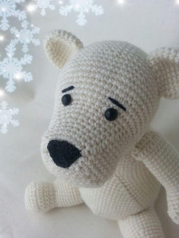 Häkelanleitung Eisbär Lillebjörn | Kleiner eisbär, Häkelanleitung ...