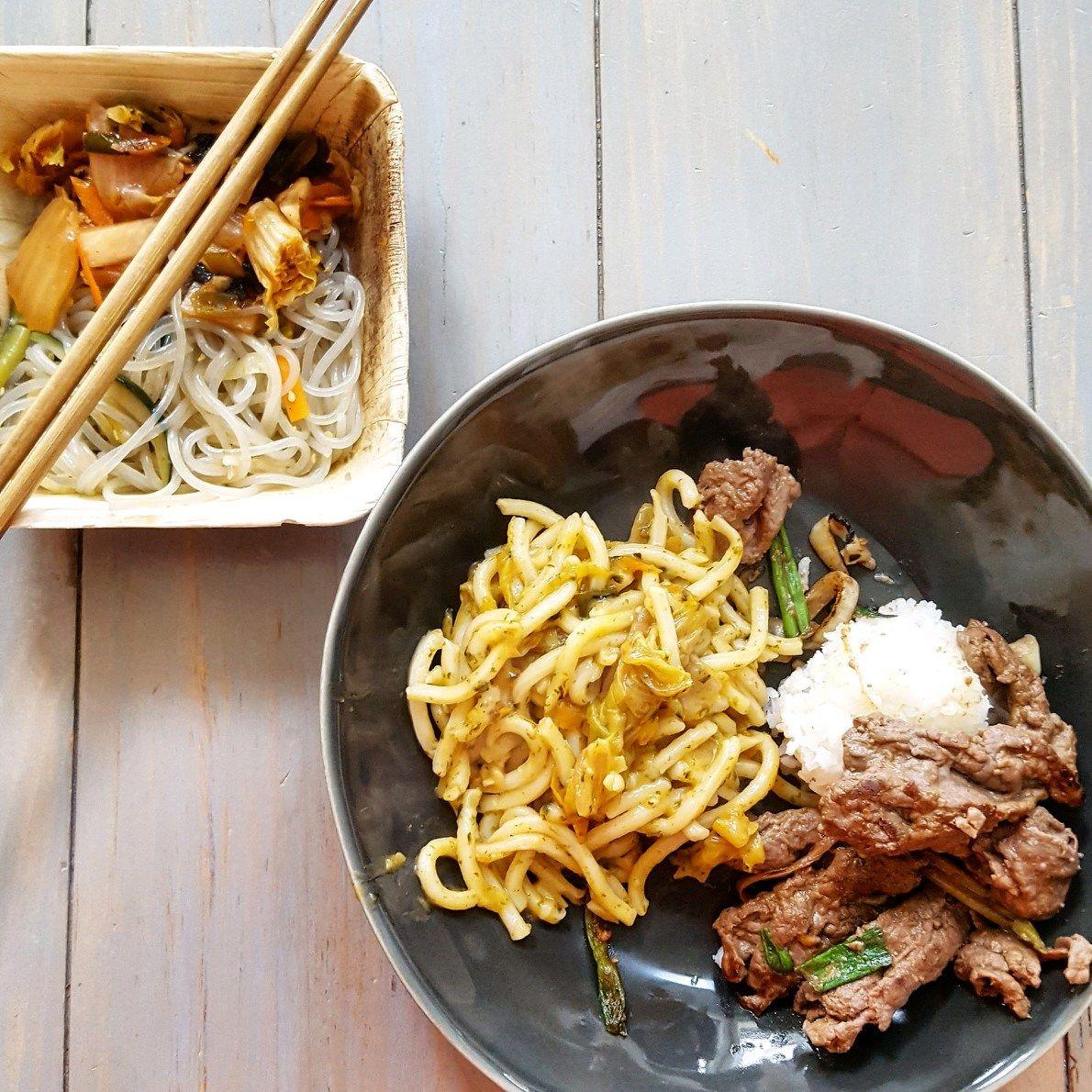 Korean Bulgogi Chap Chae and Kimchi Homemade | Korean ...