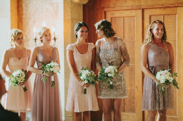 mix n match BHLDN bridesmaids | via: brittany esther photography