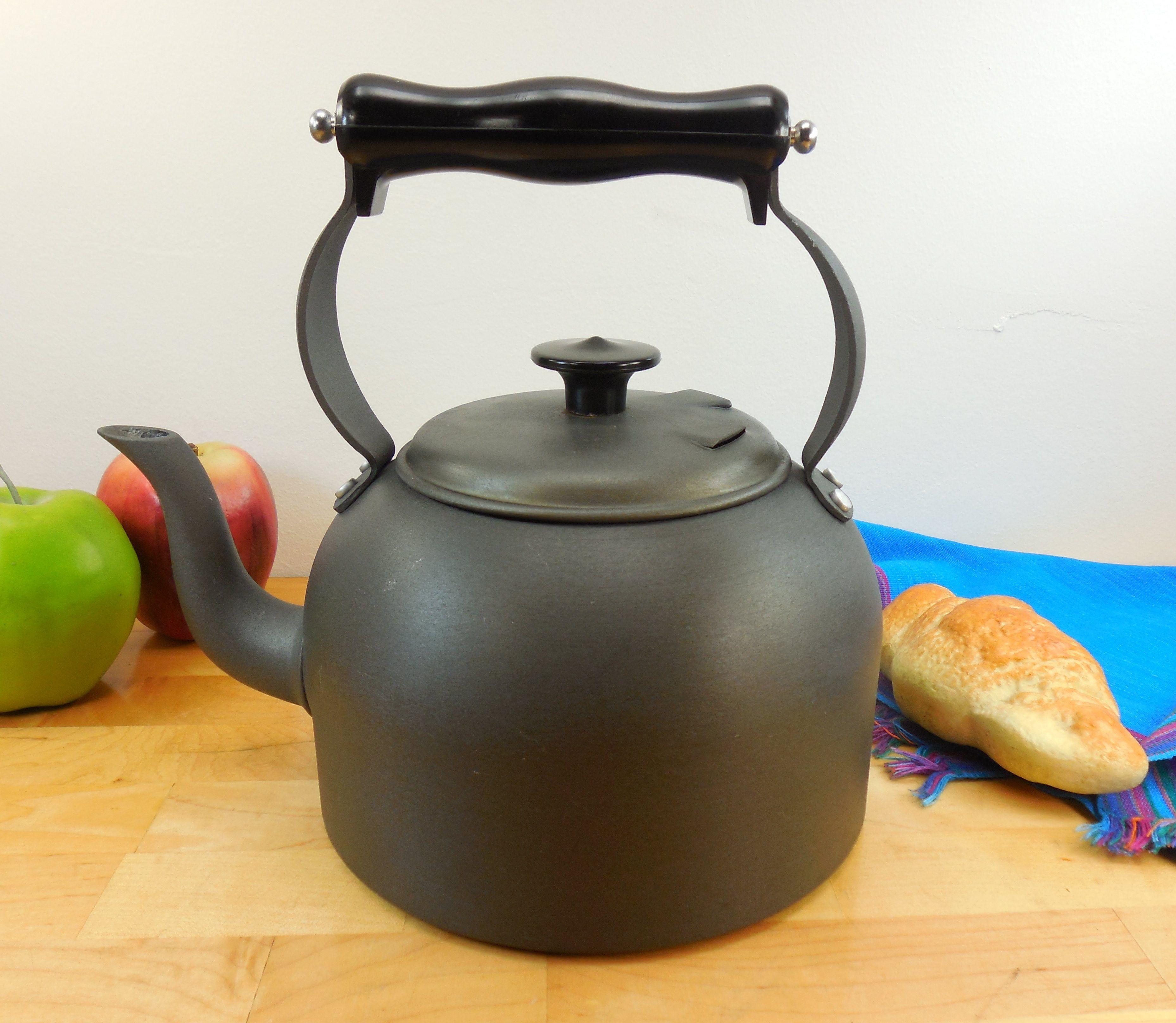 calphalon vintage hard anodized aluminum teapot 2 quart water kettle