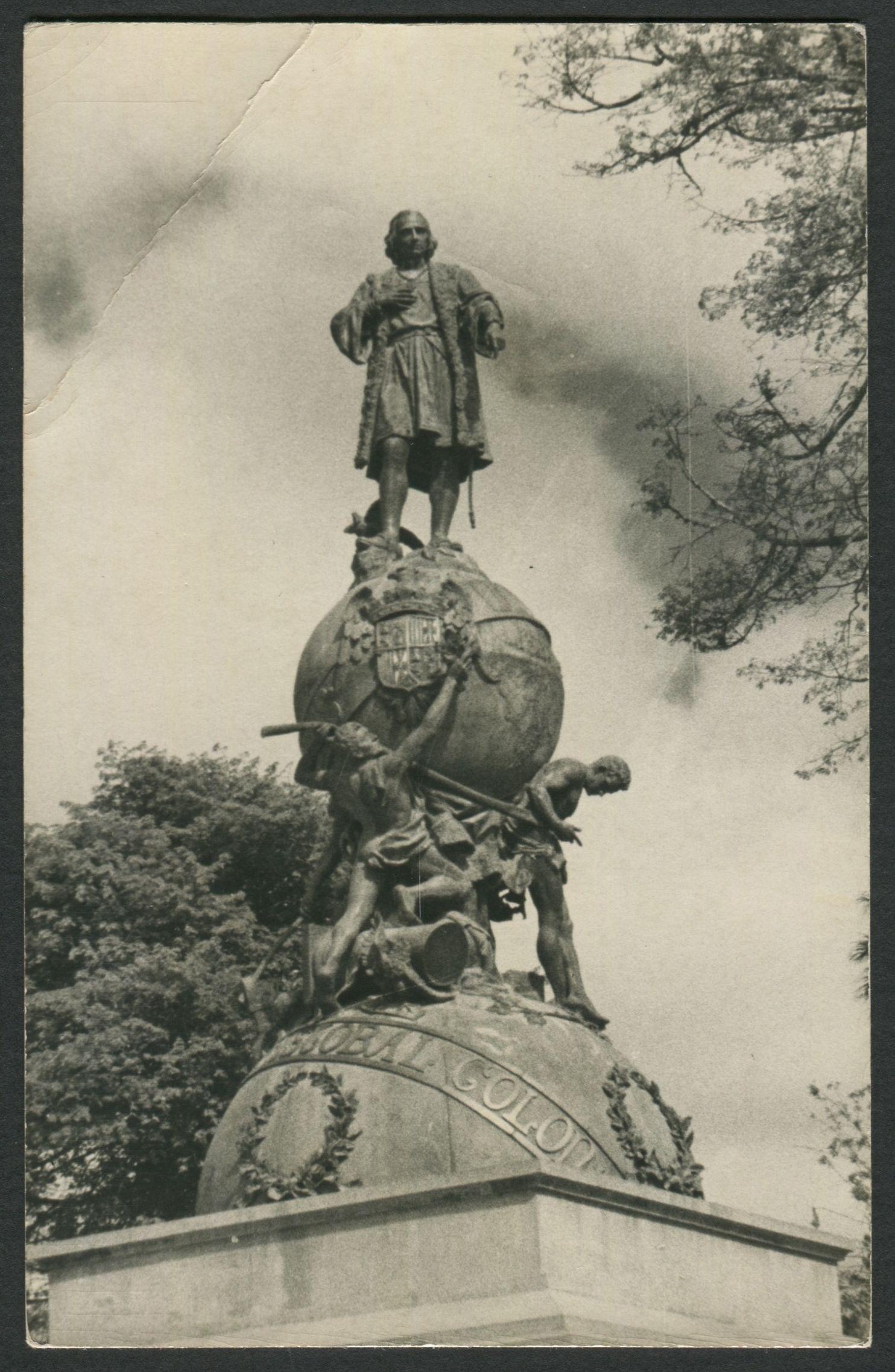 Real Photo Postcard Columbus Monument Monumento A Colon In Guatemala City Guatemala Dedicated In Plaza Mayor In 1896 Statue Bronze Statue Photo Postcards