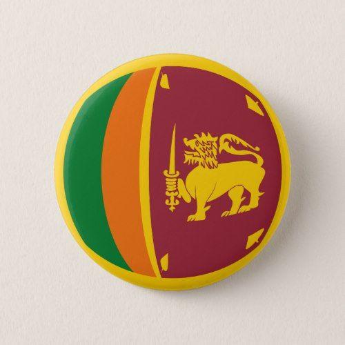 Sri Lanka Fisheye Flag Button Zazzle Com In 2020 Flag Sri Lanka Flag Design