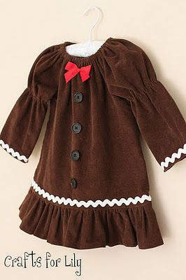 Gingerbread dress from crafts4lily...adorable!!