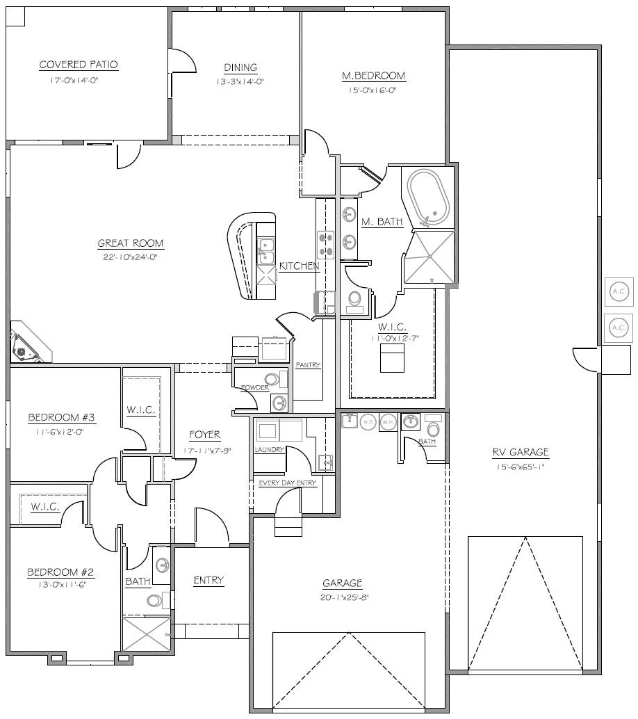 062G-0068: RV Garage Plan with Tandem Car Bay and Loft | RV Garage ...