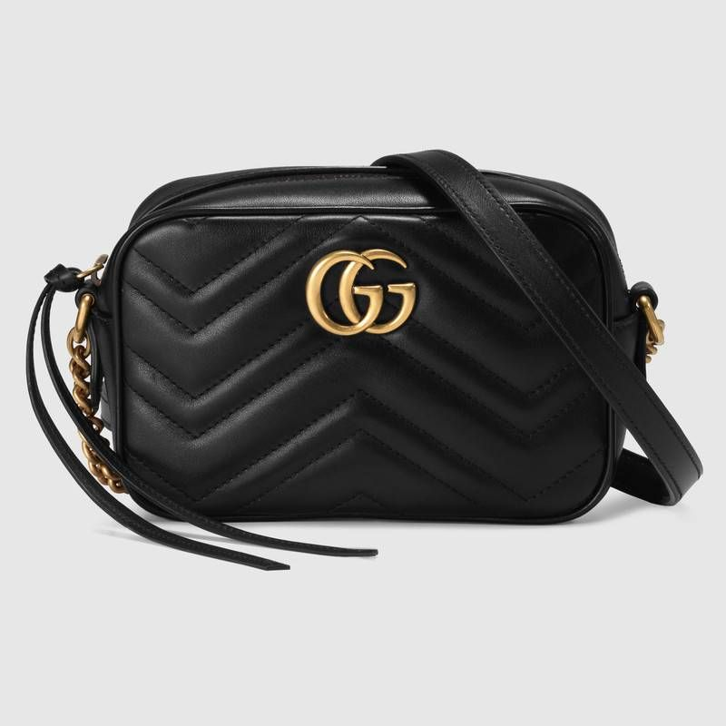 1df22725d928 Shop the GG Marmont matelassé mini bag by Gucci. The mini GG Marmont chain  shoulder
