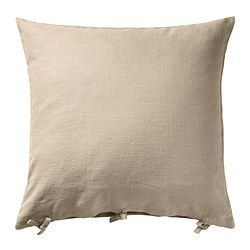 IKEA - URSULA, Cushion cover, , Cover is made of ramie; a hard-wearing and absorbent natural material.The ties make the cover easy to remove.