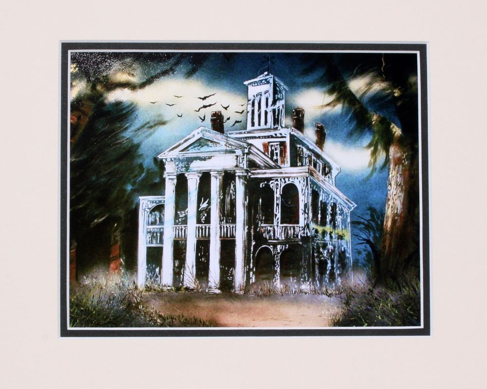 DISNEYLAND HAUNTED MANSION ART WORK PHOTO, ART WORK BY SAM MCKIM