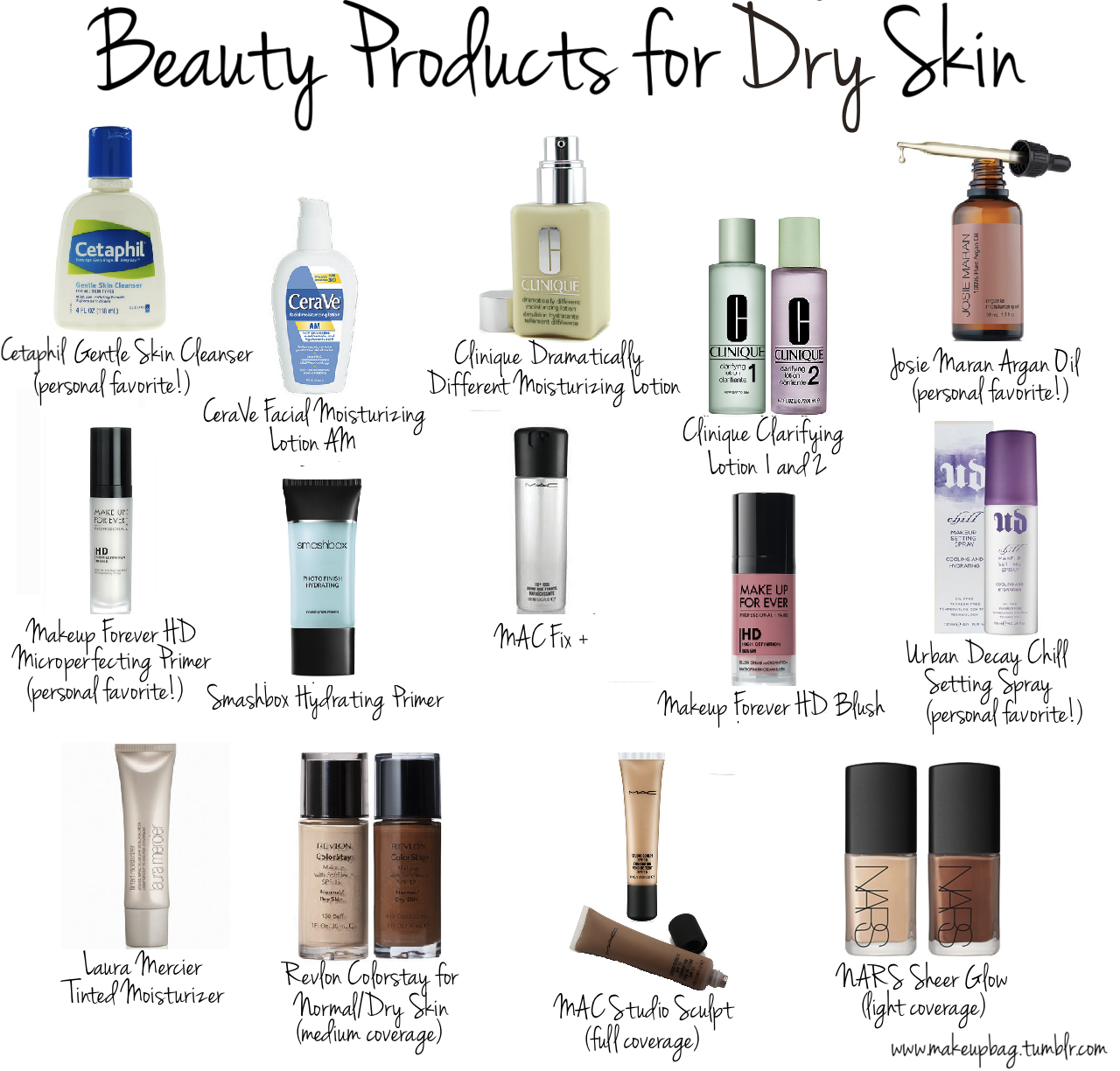 Beauty Products for Dry Skin makeup beauty cosmetics