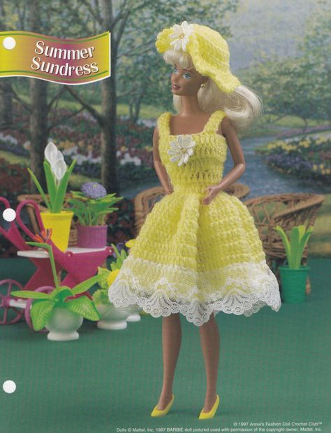 Summer Sundress, Annie\'s Fashion Doll Clothes Crochet Pattern Club ...