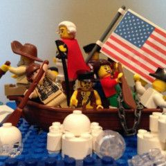 LEGO Washington Crossing the Delaware