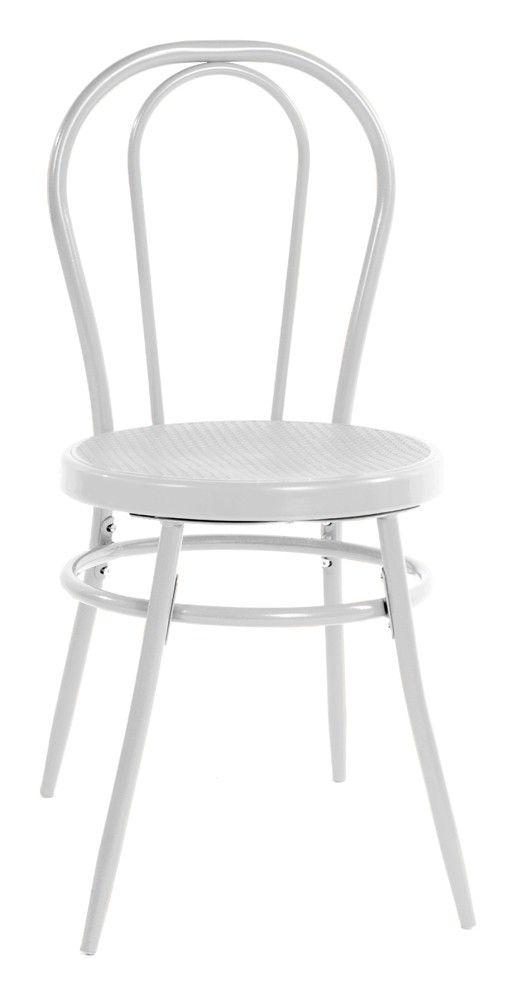 chaise de bistrot blanche 27 99 objet meuble tissu. Black Bedroom Furniture Sets. Home Design Ideas