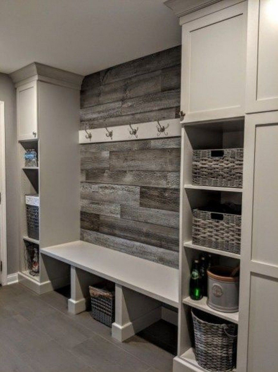 25 DIY Laundry Room Shiplap and Shelving images