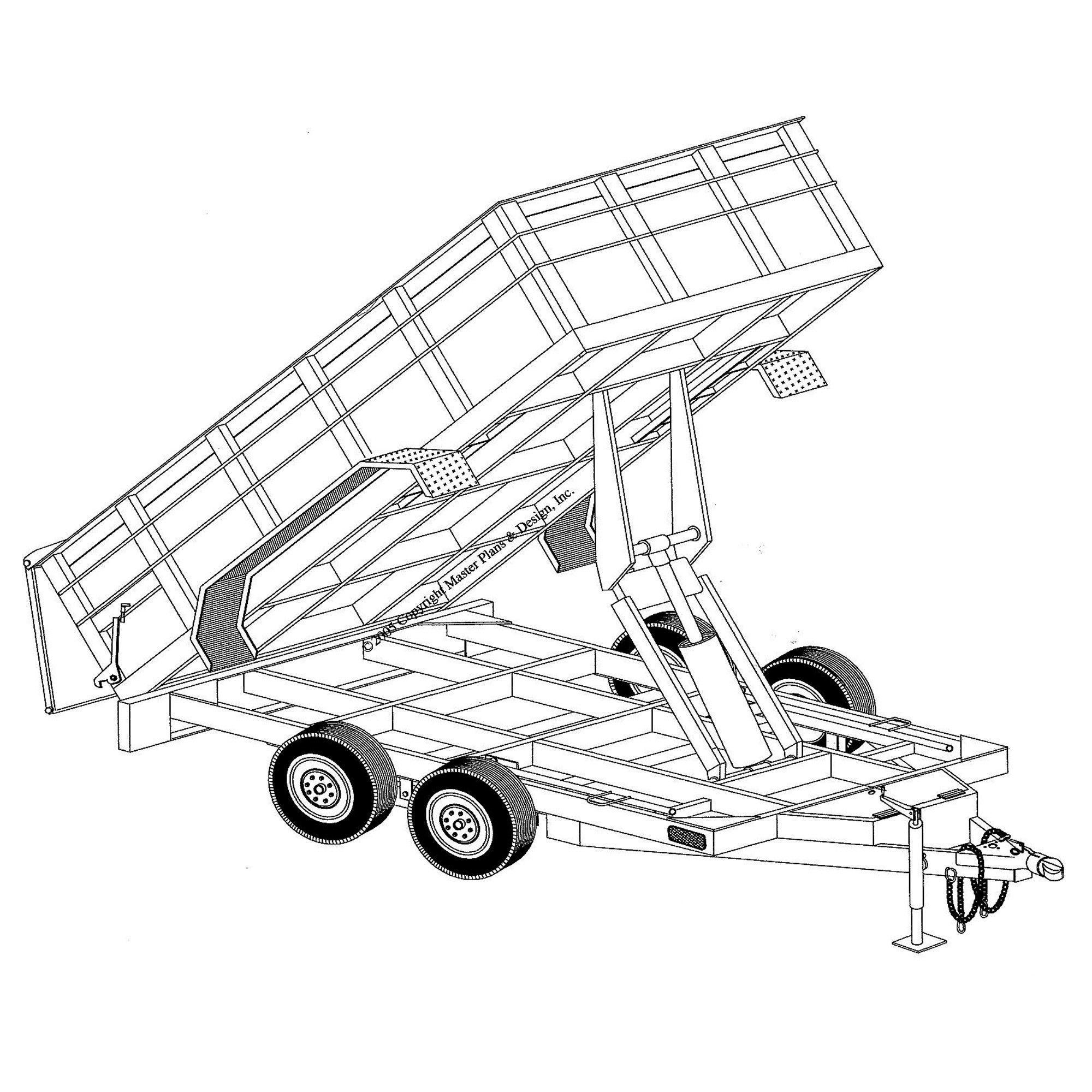 64 x 12 hydraulic dump trailer plans model 12hd