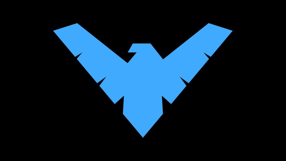 Nightwing Symbol Wp By Secretxax On Deviantart With Images