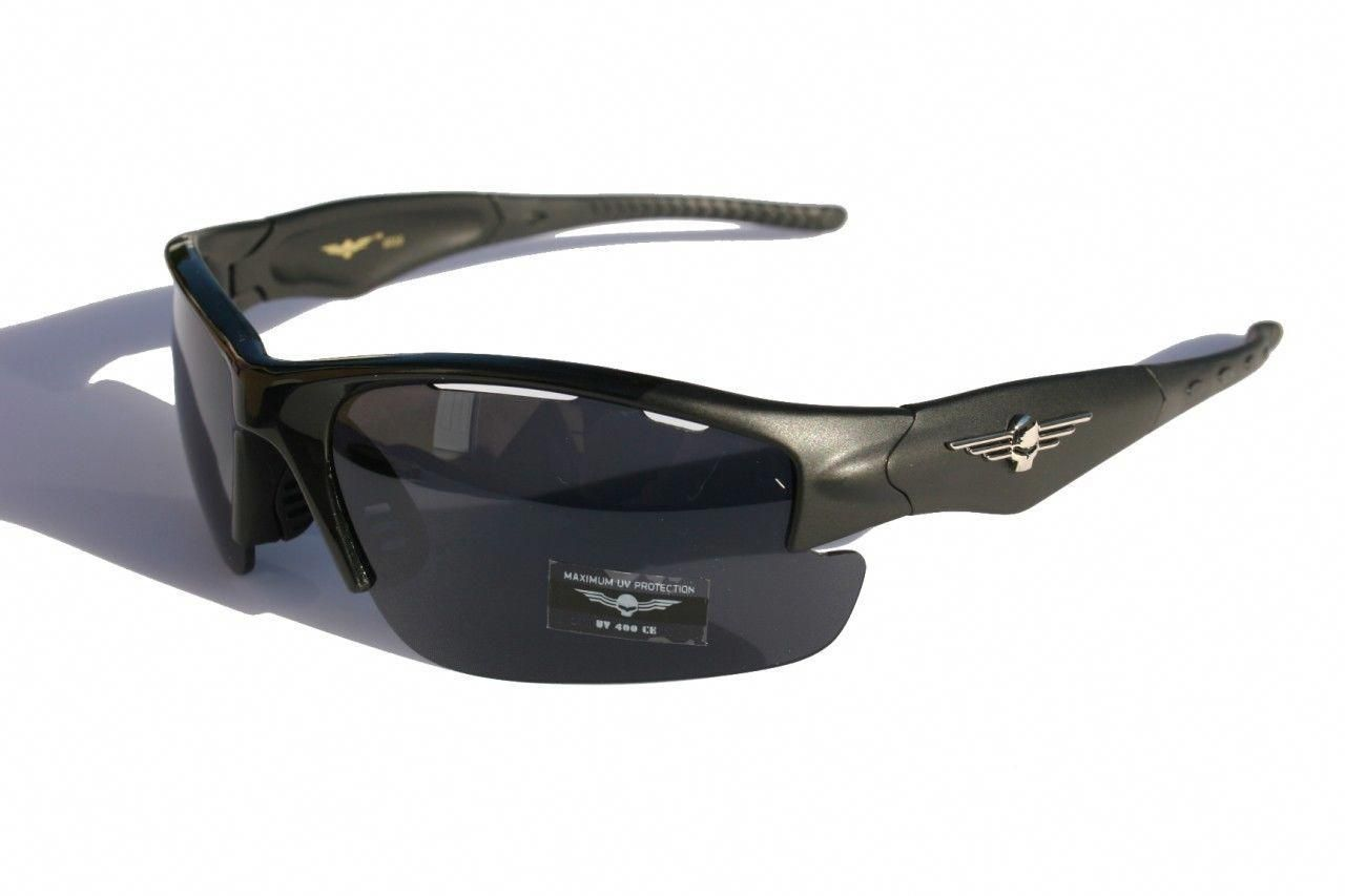 669bb6d10471f Men Skull Wrap Around Sunglasses Matte Black Baseball Sports   baseballsunglasses