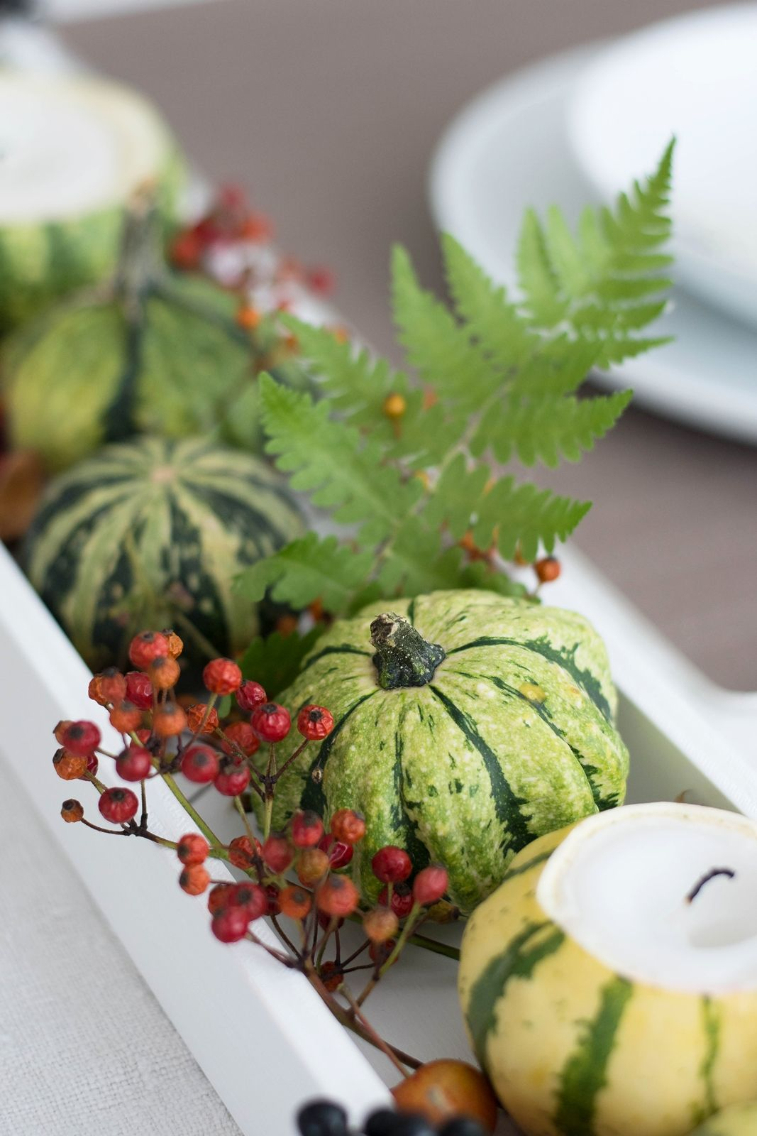 [Nachmachtipp] Herbstliches Tablett mit Kürbis-Kerzen #herbstlichetischdeko