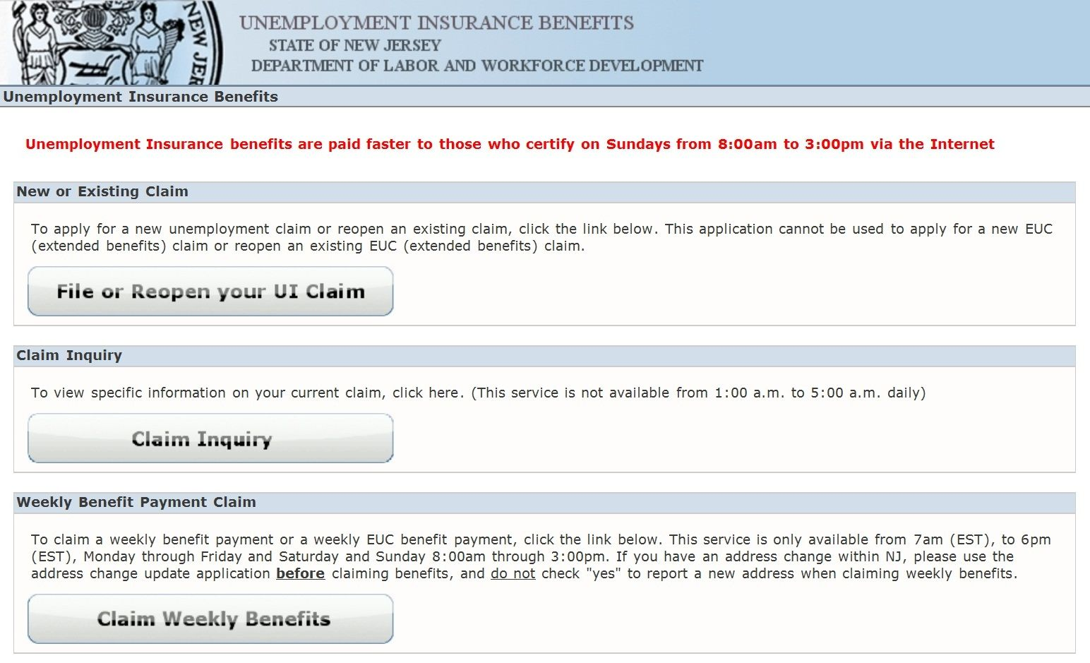Www Njuifile Net Claim Unemployment Insurance Benefits Online