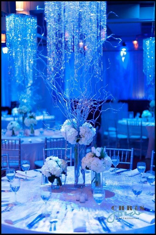 Winter wonderland themed centerpieces isabel s winter for Winter themed wedding centerpieces