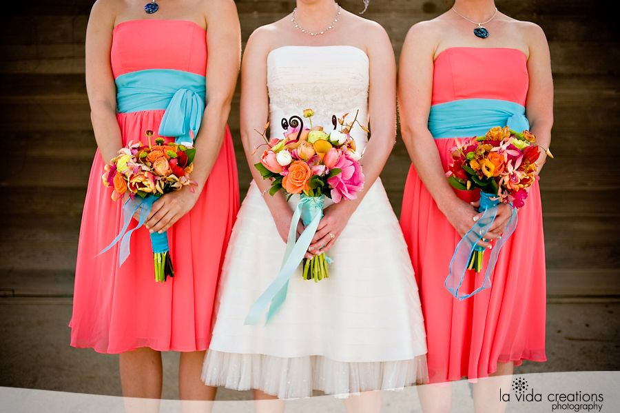Platinum touch events color crush coral aqua my for Coral and turquoise wedding ideas