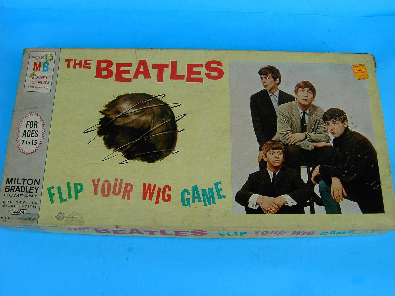 1964 THE BEATLES FLIP YOUR WIG BOARDGAME