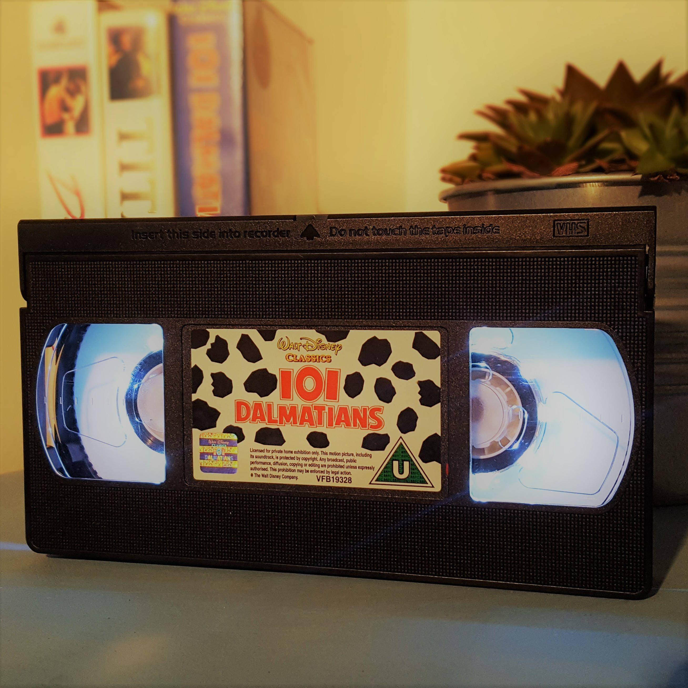 101 DALMATIANS Retro VHS led Lamp disney