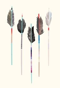 feather arrows