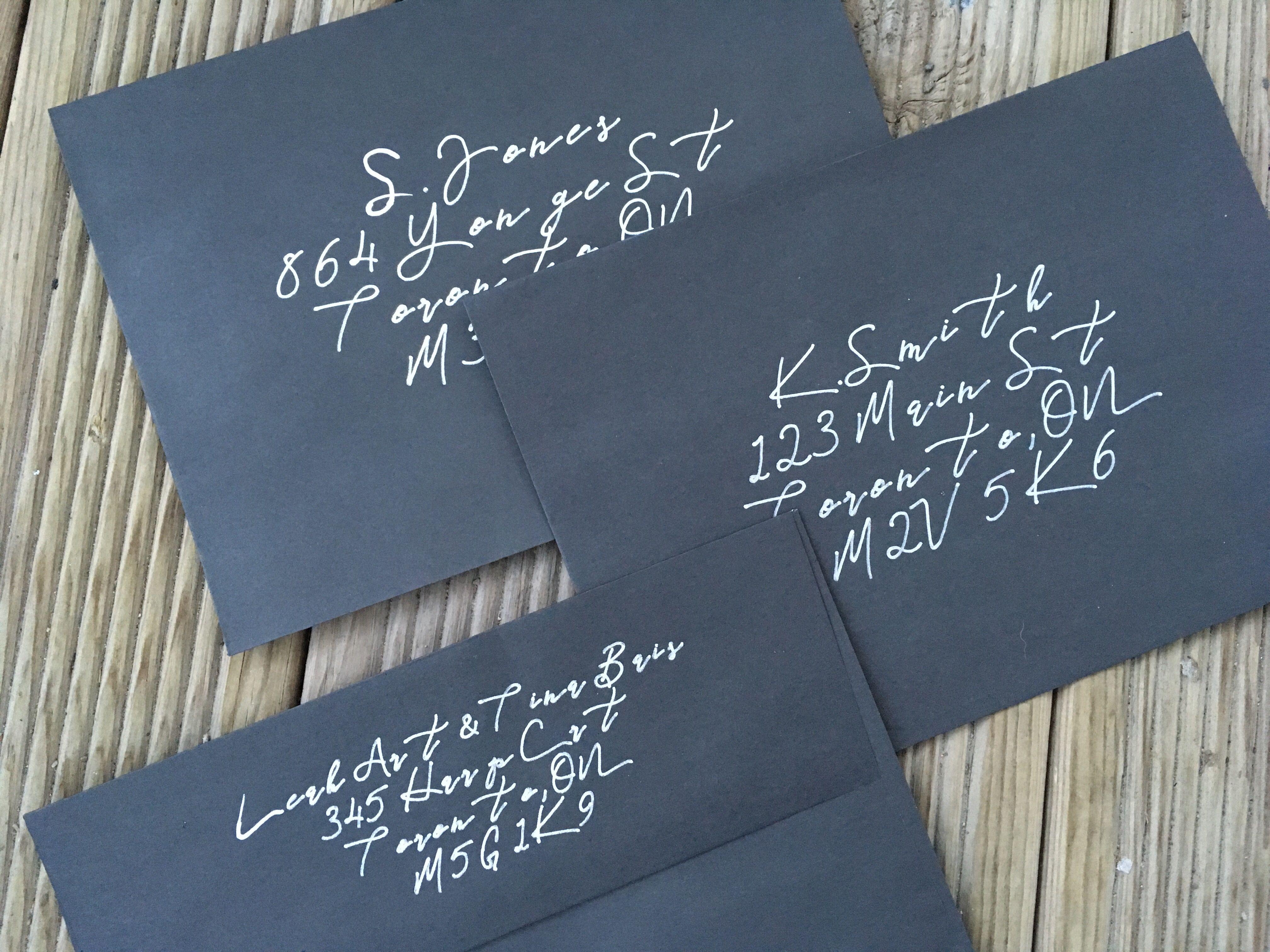 WTF How to Label Dark Envelopes Addressing envelopes
