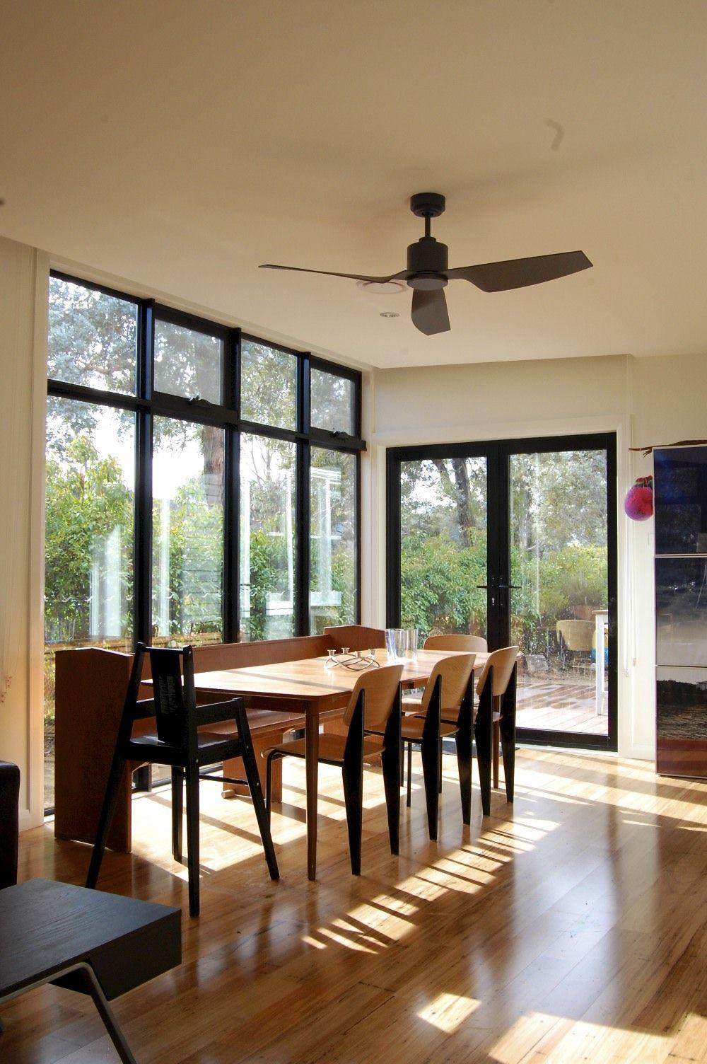 lovely sunny spot for a meal. vintage danish teak table, 60s