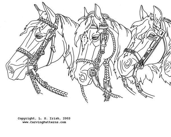 Western Horses Mantel Pattern Package