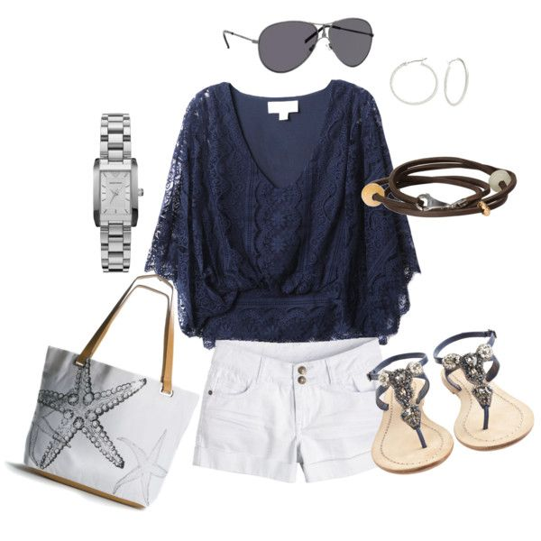 white and navy = summer