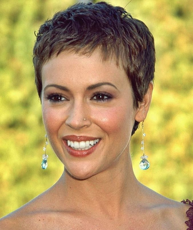 Pin By Marlaine Natus On Alyssa Milano Short Hair Styles Short Hair Styles Pixie Short Cropped Hair