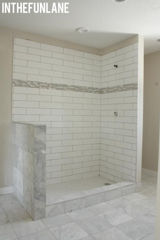 Tile Almost To Ceiling Solves The Problem Of Finishing The Transition Update Small Bathroom Bathroom Update Bathroom