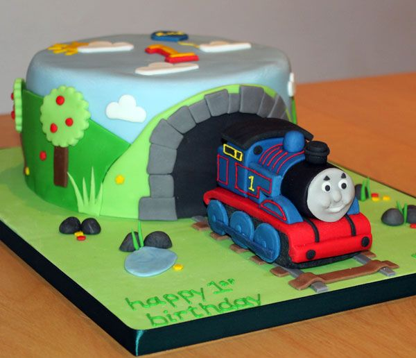 I Think My Son Would Love The Tunnel Thomas Tank Birthday Cake