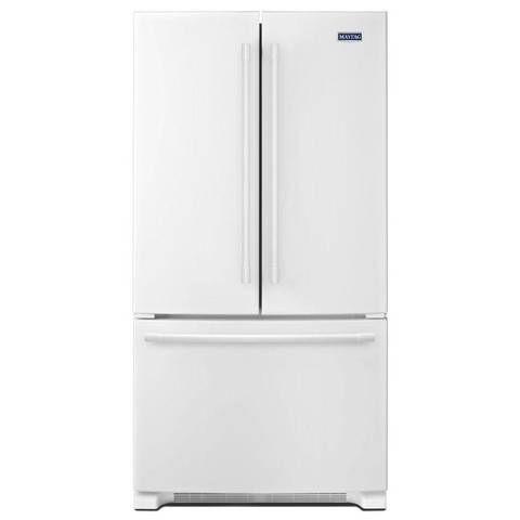 Shop Maytag 25 2 Cu Ft 3 Door French Door Refrigerator Single Ice