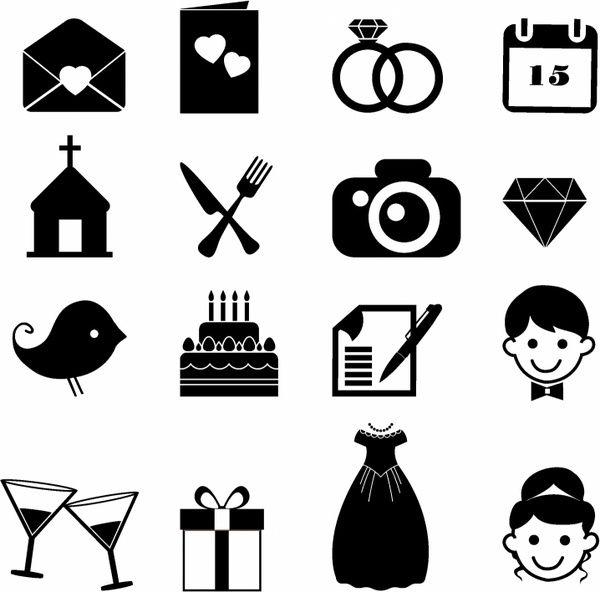 Wedding Icons Free vector in Adobe Illustrator ai ( .AI