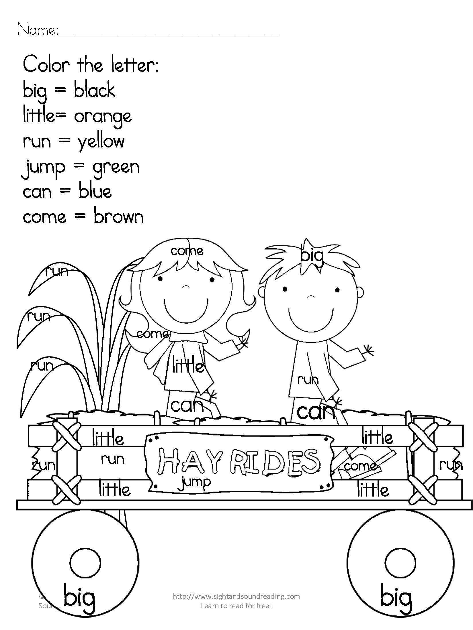 Hurricane Worksheets For Kids Kindergarten Worksheets Free And Printable Math Worksheets In 2020 Sight Words Kindergarten Sight Word Coloring Sight Words