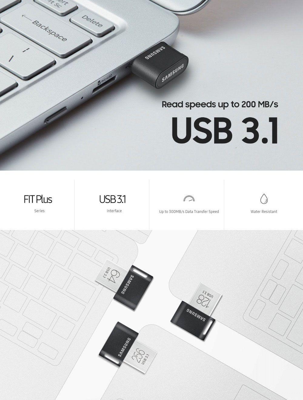 Original Samsung USB 3.1 Pendrive 32GB 64GB 200MB//S Memoria Usb 3.0 Flash Drive