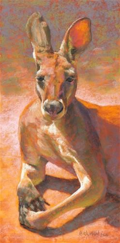 "Daily Paintworks - ""Day 1 - K is for Kangaroo"" - Original Fine Art for Sale - © Rita Kirkman"
