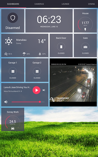 Home Automation Dashboard using OpenHAB and the Rotini android app
