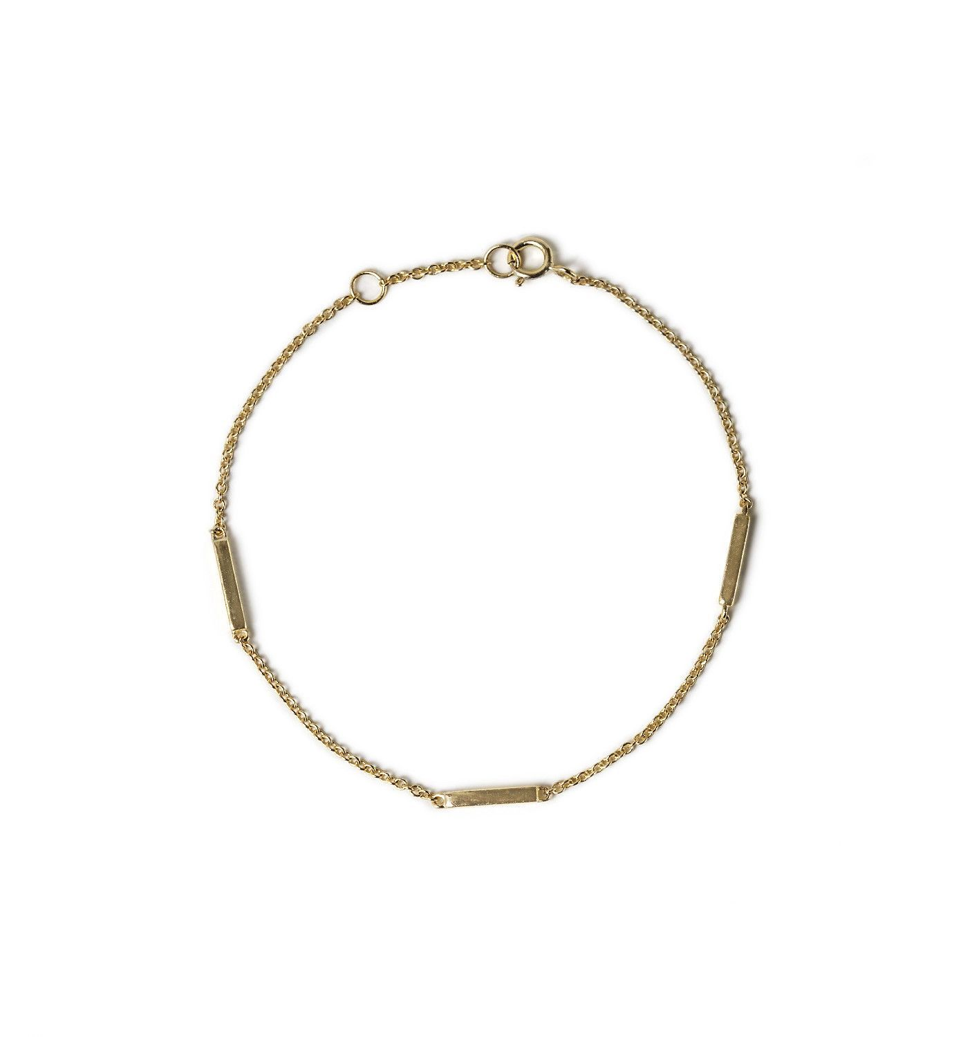 filled bar hammered thin layering rectangle chain dainty fullxfull p il bracelet gold