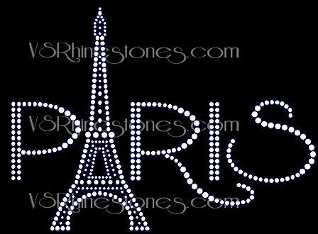 Paris Eiffel Tower Women/'s Sweatshirt Plus Size Unisex Cute Bling Handmade