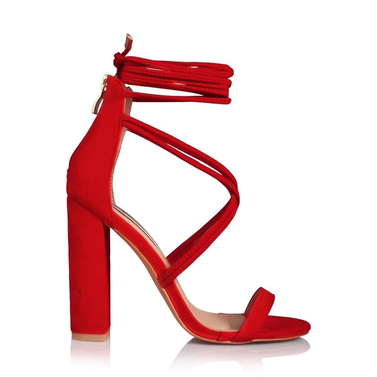 79866271c1a Lyra red suede   Shoes   Strappy block heels, Shoes, Heels