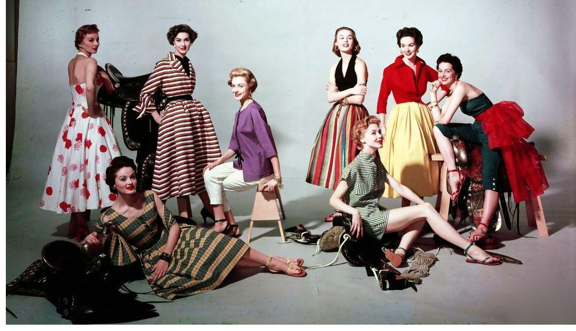 1953 Summer fashions, photo by Eliot Elisofon